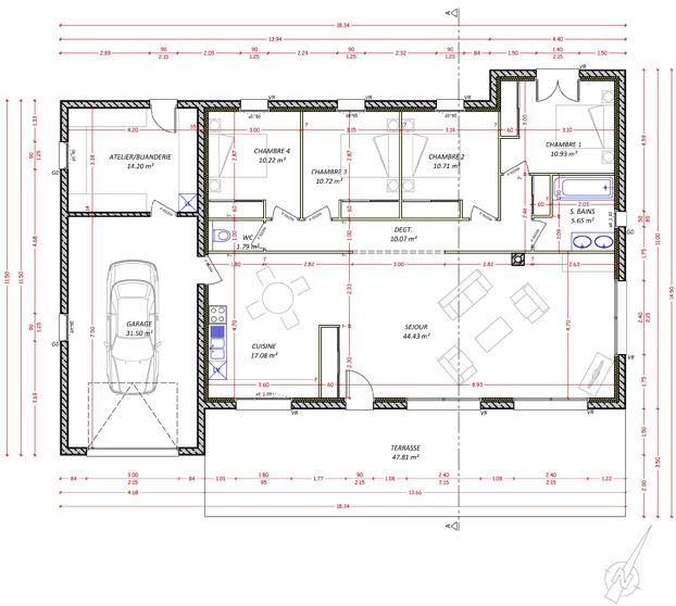 Marie nedellec architecte dplg en aveyron pr s de rodez for Projet construction maison individuelle